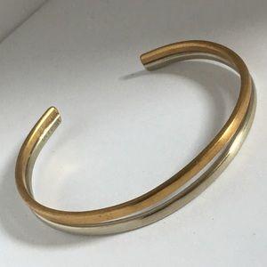 Sergio Lub Two Tone Bracelet Gold Tone Silver Tone